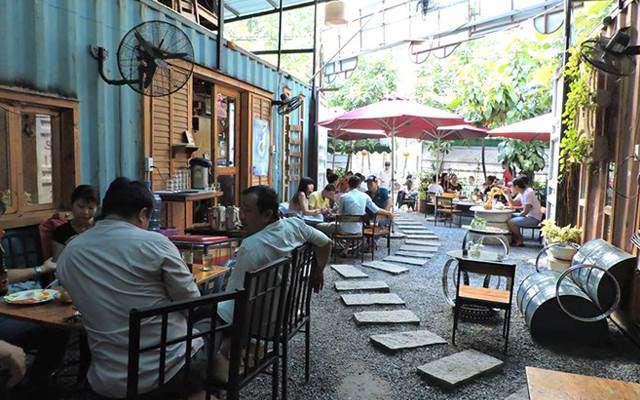 Cà phê Container luôn thu hút một lượng khách không nhỏ