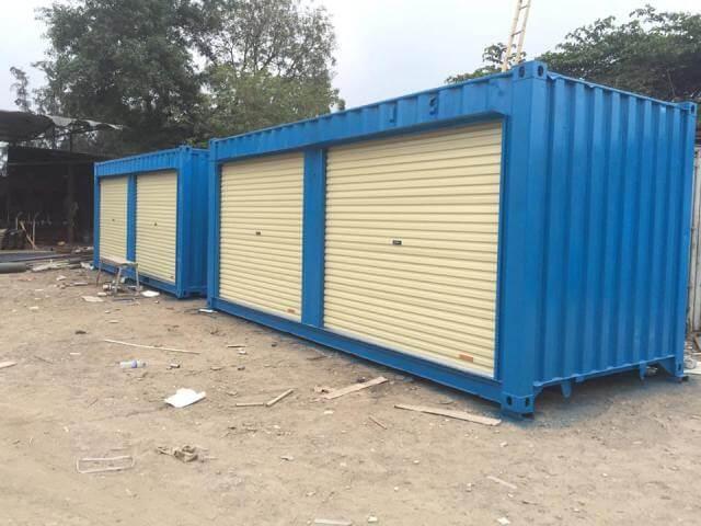 Container lắp cửa cuốn