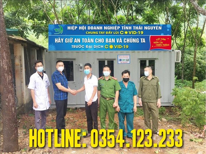 Hiệp hội daonh nghiệp tỉnh Thái Nguyên sử dụng container làm phòng chống dịch