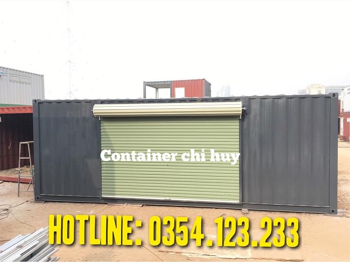 Container làm phòng chỉ huy tại công trình